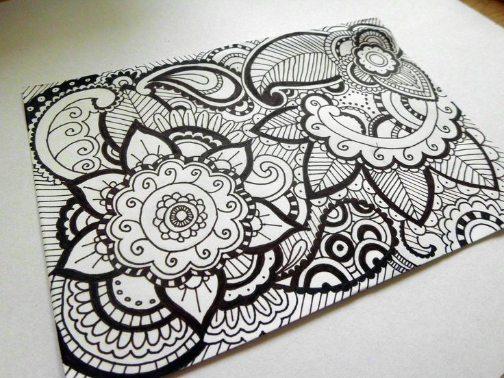 #zentangle #psycho #doodle #art #mandala #flower