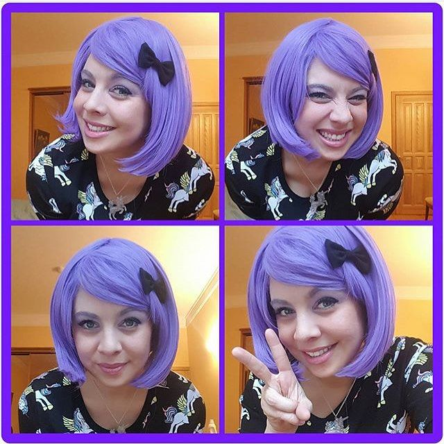 @sassicandiandi Cute as a button is Lush Wigs - Violet  #lushwigs #wig #lushwigsviolet www.lushwigs.comLot's if wiggy's back in stock x #wigs #lushwig