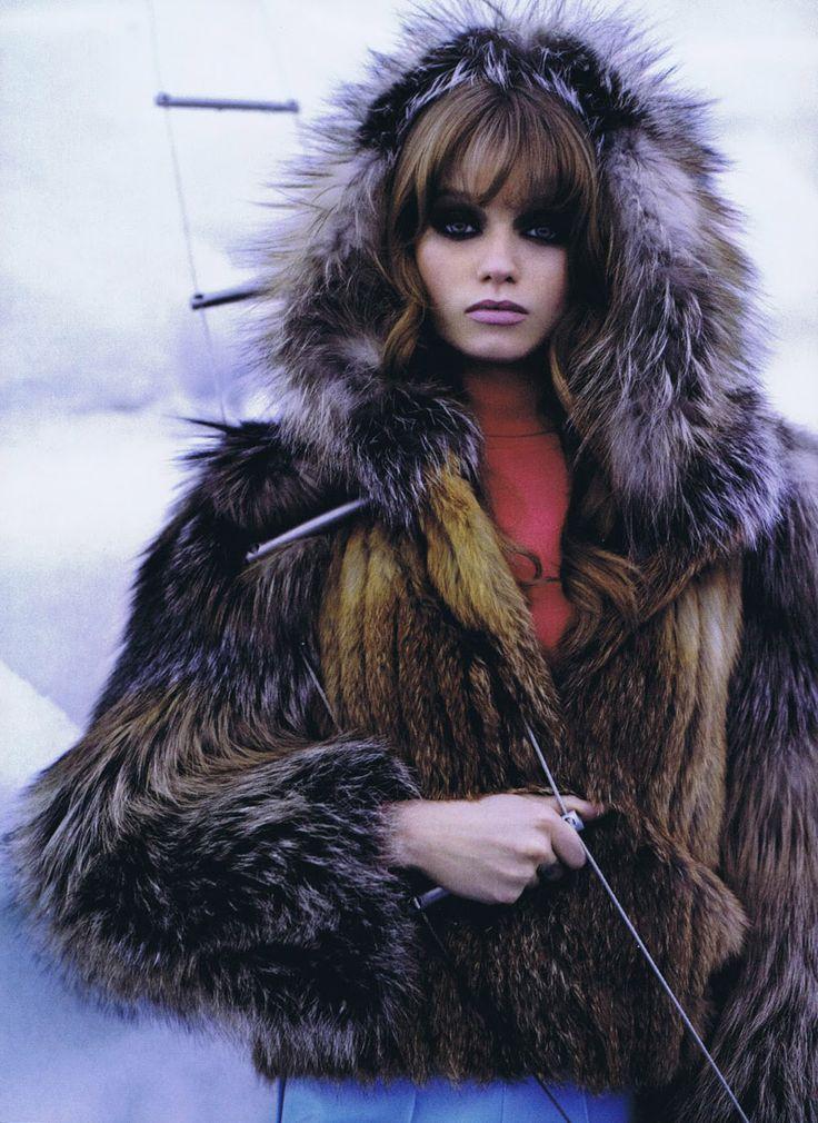 Abbey Lee Kershaw by Karl Lagerfeld in The Big Chill | Harpers Bazaar US October 2010 http://www.youtube.com/watch?v=0GPzXUROj0U