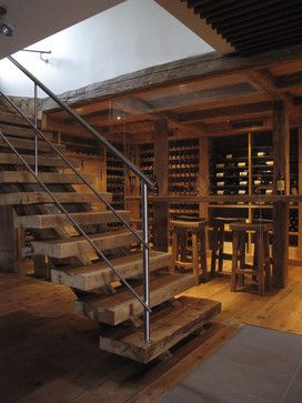 Timber Stairs To Wine Cellar Home Design Ideas, Pictures, Remodel and Decor