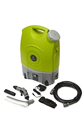 Aqua2Go GD70 Multipurpose Outdoor Portable Spray Washer with 17 Ltr/4.5 Gal Water Tank, Up to 130.5 psi, Hose length of 19.5 ft, Includes Rechargeable Battery  Use it anywhere, no power or water connection required  10.000 pulsating vibrations provide thorough cleaning  Rechargeable battery included  Includes water reservoir for 12 minutes of continuous use and 19.5 ft hose  Adjustable spray pressure from 40 to 130 psi. Includes storage for Hose and nozzle