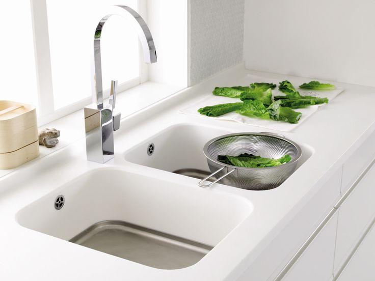 Marbodal hi macs jamen h s galet snyggt hi macs for Solid surface kitchen sink
