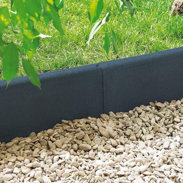 Bordure droite béton 50 x 16 cm noir - CASTORAMA