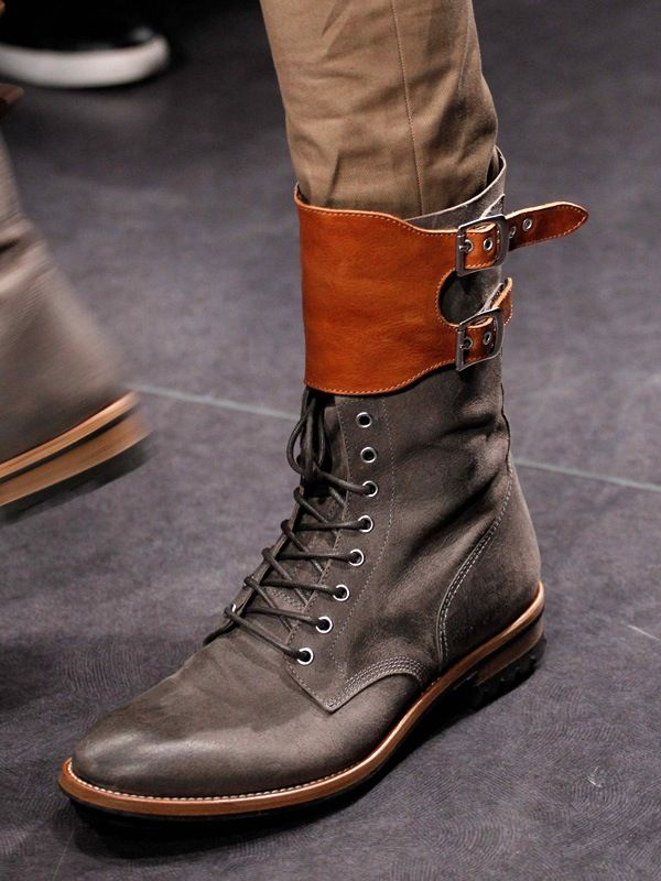 Not so sure about the top there, but i love the rest of it. Alexander McQueen Boots.