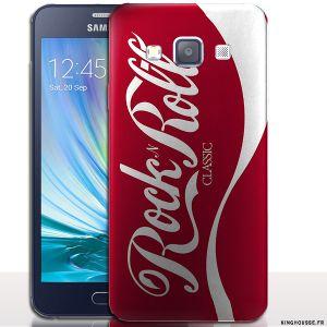 Étui / Coque Samsung Galaxy A3 Coca Rock'N Roll - Housse telephone mobile. #Coque #Samsung #A3 #Sm-A300 #Coca #Coke #Fun