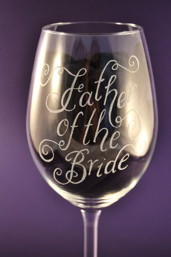Personalised wine glass Christmas gift can be hand engraved with any message of your choice by CoveCalligraphy