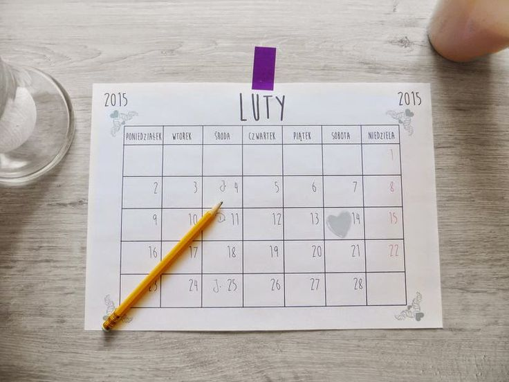 Kartka z kalendarza: luty 2015 - What a mess!