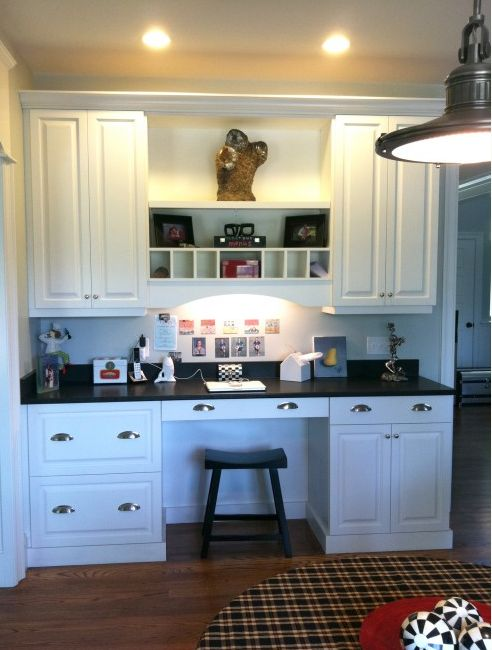 Pin by oohlas fremont on home pinterest for Built in desk in kitchen ideas