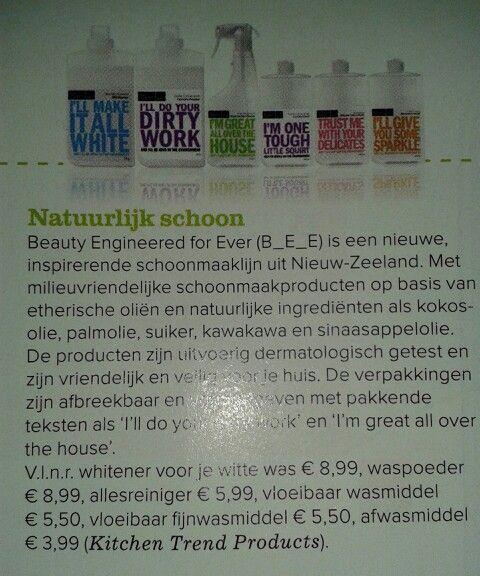 Natuurlijke schoonmaakproducten
