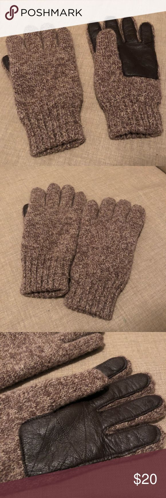 """JCrew Wool Smartphone Gloves Men Size S/M Wonderful pair of gloves never worn! Simply bought in the wrong size.   Perfect give for valentine's day!   From JCrew: These practical gloves are knit in textured wool and finished with leather that works on smartphone surfaces, so you can answer that """"high-priority"""" email without getting frostbite.  Wool, leather. J. Crew Other"""
