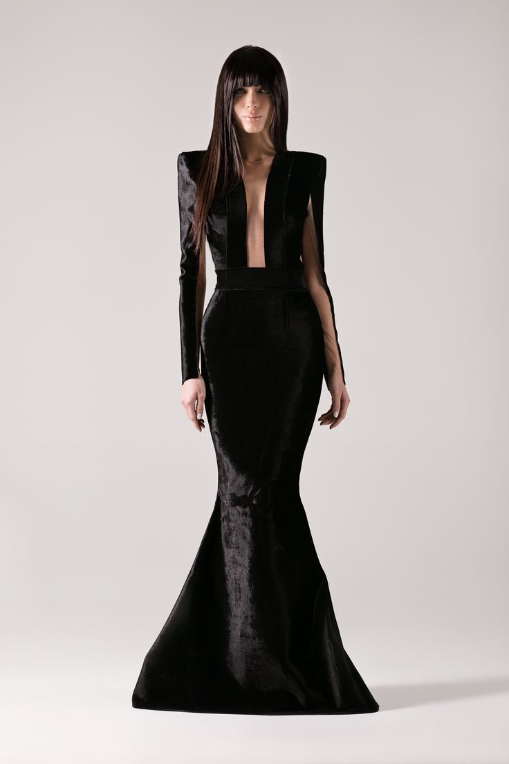 Black corduroy scuba gown with sheer nude panelling.-Michael Costello US Size Chart-Terms / Conditions-Shipping- Made to order- Include inches of heels when selecting height- Dry clean only- Thinking about custom measurements? Ask us about custom optionscustom@shopcostello.com