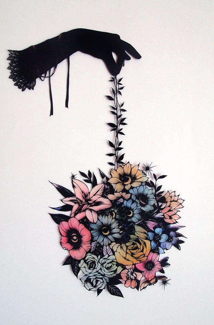 Paper cut out art by OHASHI Shinobu, Japan