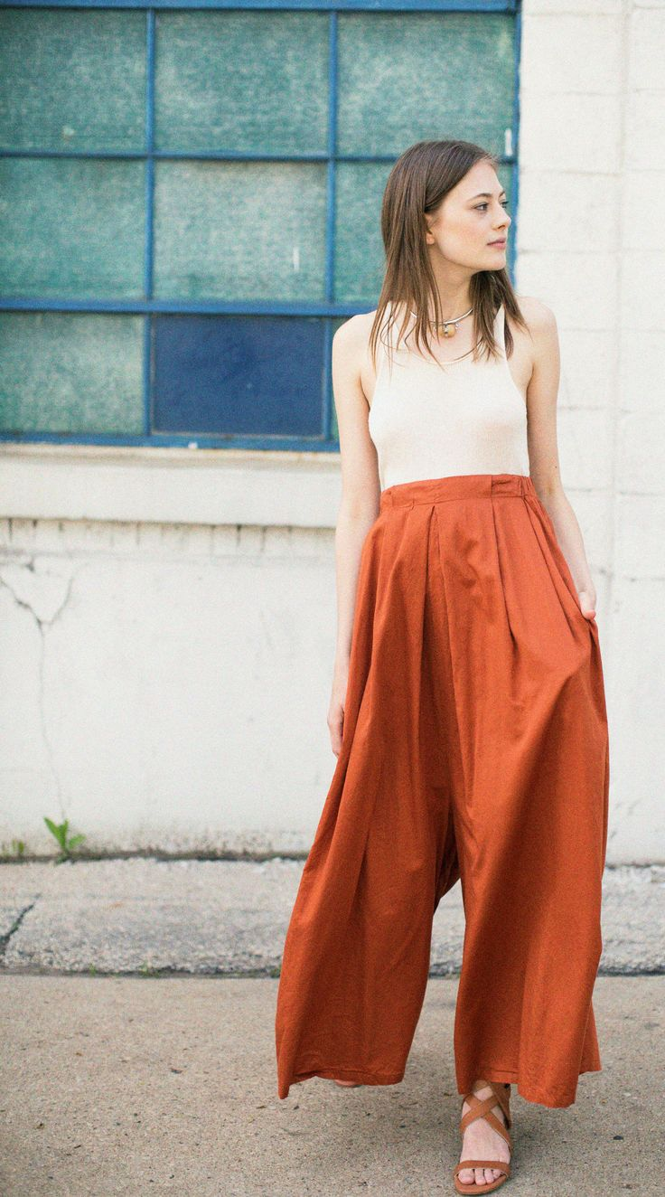 Black Crane Brick Pleated Jumper (worn as pants!) with the Lauren Manoogian Crudo Fine Tank and Brother Vellies Whiskey Bruna Sandal