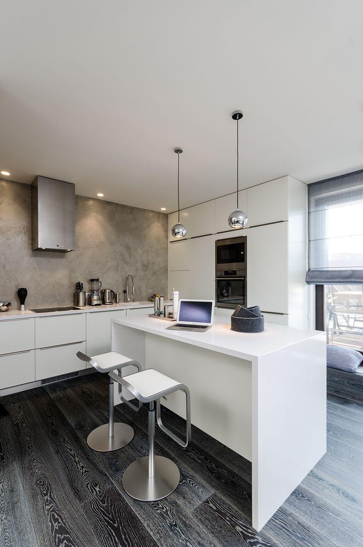57 best kitchen splash backs tiling images on pinterest oooox baarova white kitchen dark grey wooden floor and cement walls