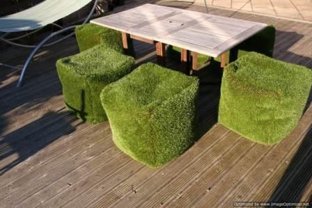 Artificial Grass Cube Furniture