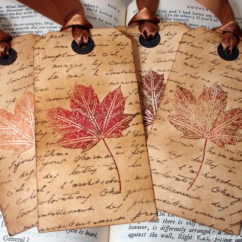 Love these! Possible favor or decoration idea? Combines my love for fall and reading!