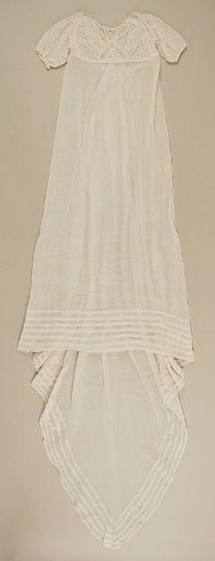 Evening dress Date: ca. 1809 Culture: American Medium: cotton Accession Number…
