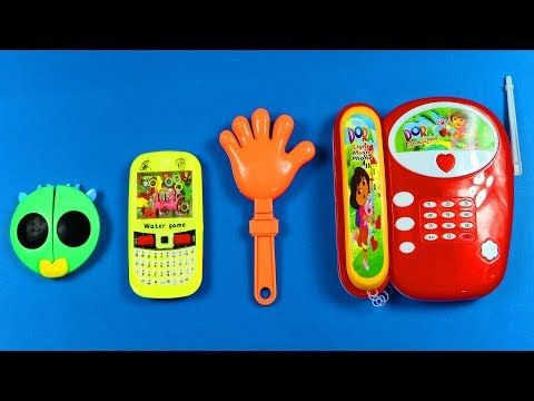 Learn Sizes Small to Biggest, Learn Colors Five Finger Water Game Baby Toy Telep…