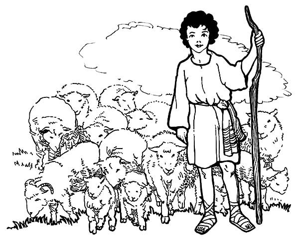 David The Shepherd Boy David The Shepherd Boy And His Sheeps Coloring Pages Coloring Pages Online Coloring Pages Free Online Coloring