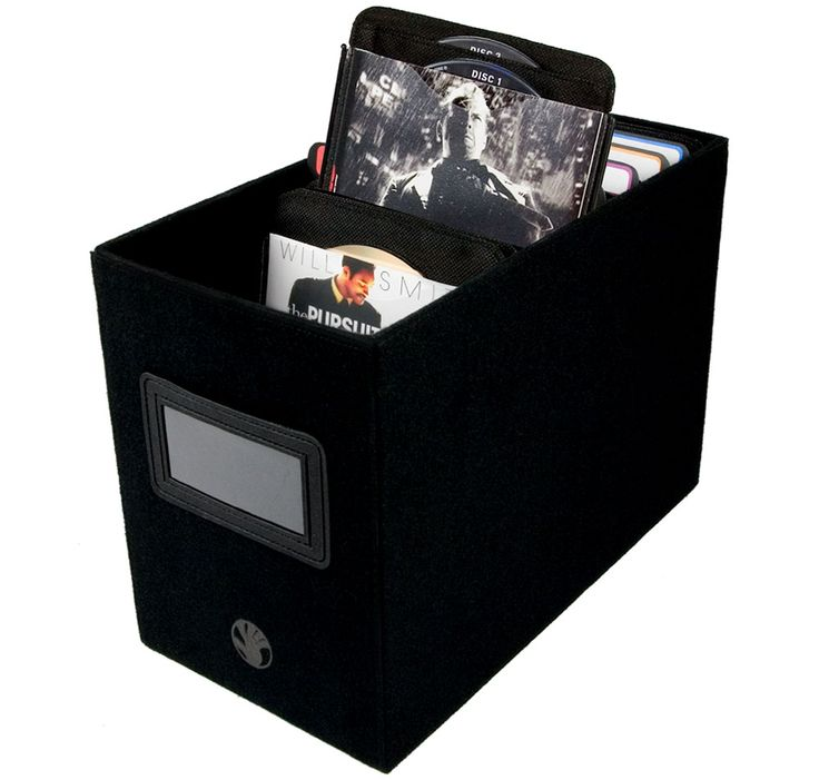 One of my favorite ways to store my large DVD collation is with d2i DVD Storage Boxes by SLAPPA.
