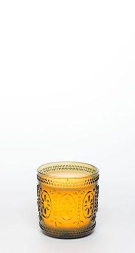 "4"" Ameila Glass Jar w/ Programmable Timer, Moss Green"