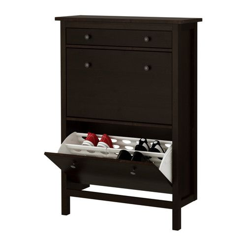 Hemnes Shoe Cabinet With 2 Compartments White Cabinets
