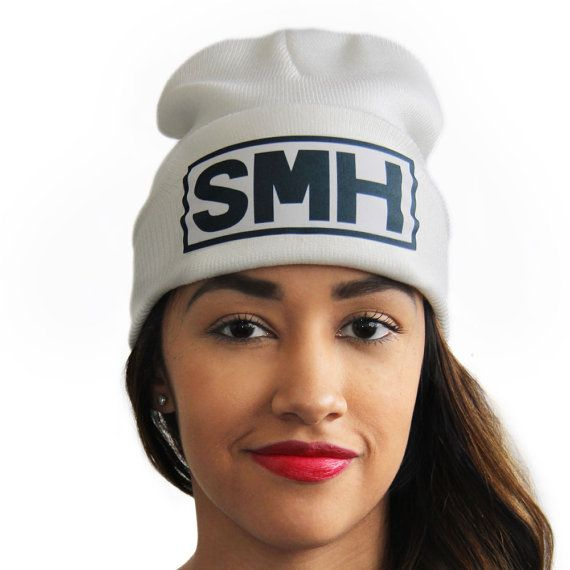 SMH Shaking my Head Slang Beanies® Dye Sublimated by ArtMajesty