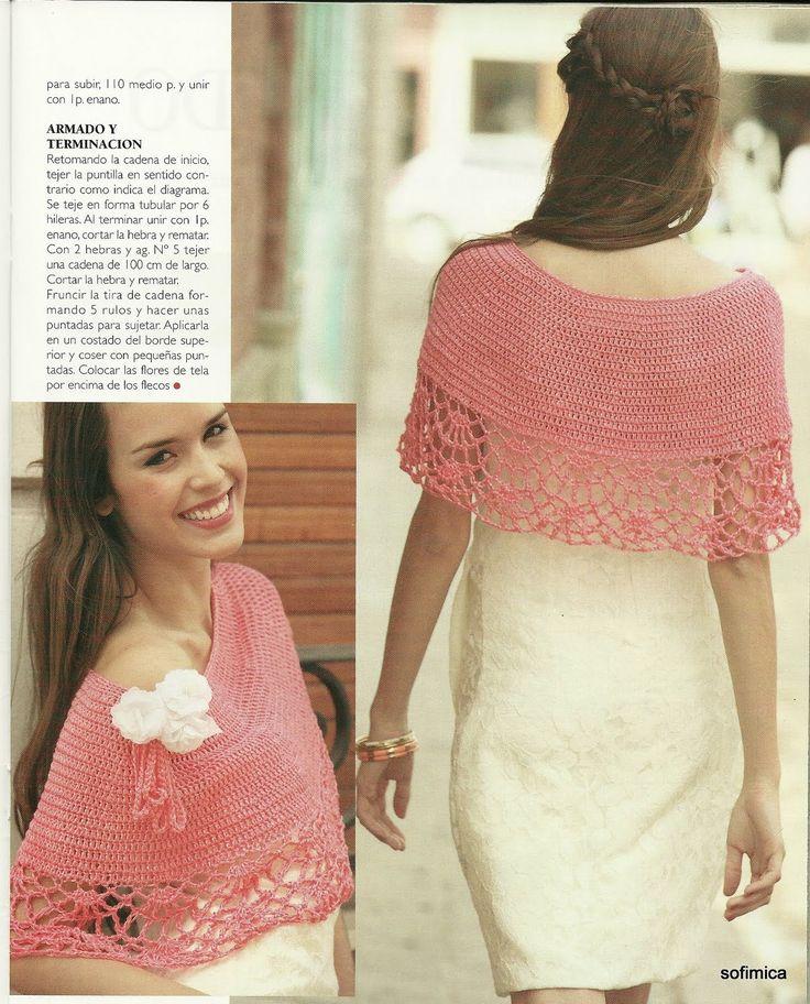 Patrones para Crochet: Chal Hiperfemenino Patron