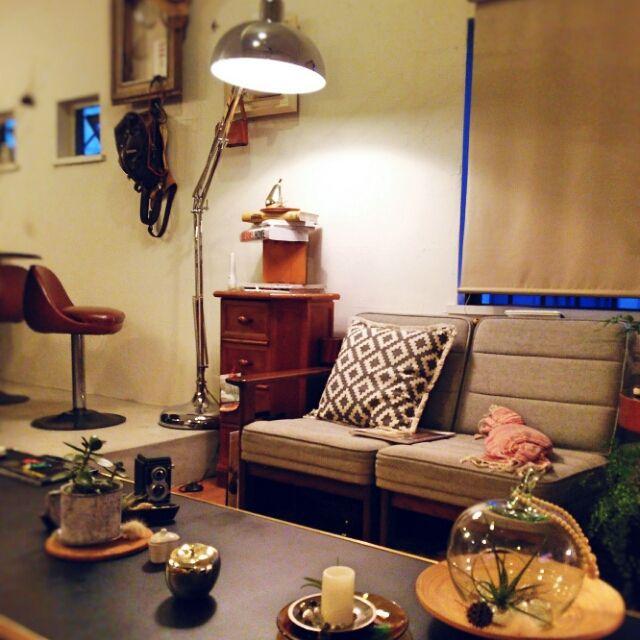 キャンドルライト部/ニトリのクッションカバー/植物/お値段以上~ニトリ❤《*≧∀≦》/照明…などのインテリア実例 - 2015-07-06 20:46:40 | RoomClip(ルームクリップ)