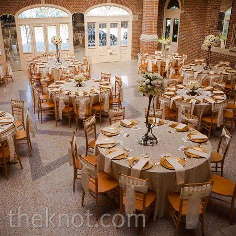 champagne and gold reception orange weddingssilver weddingsvintage