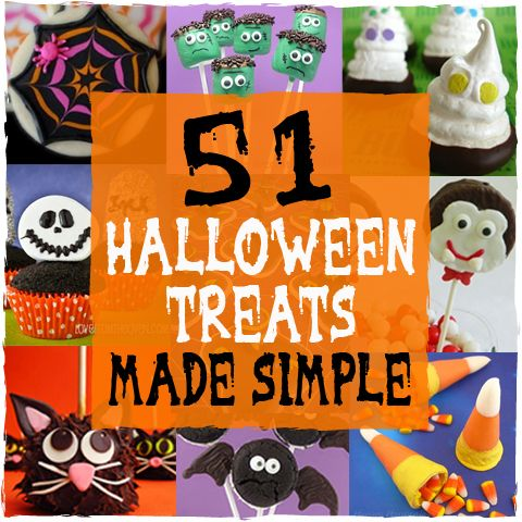 51 halloween treats made simple lots of recipes and for Creative ideas for halloween treats