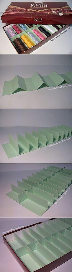 Коробочка для хранения ниток удобная вещь для хозяек.)