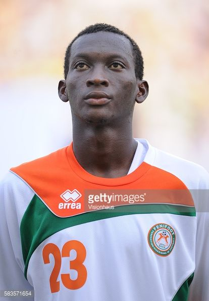 Mohamed A Soumaila of Niger during the 2012 African Cup of Nations Group C match between Gabon and Niger at the Stade de l'Amitie in Libreville Gabon...
