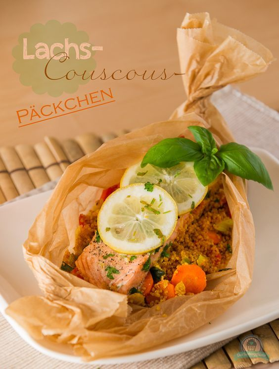 Lachs-Couscous Päckchen - Powered by @ultimaterecipe
