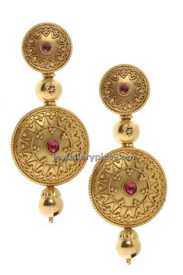 Sri krishnaiah chetty and sons Azva earring collection - Latest Jewellery Designs