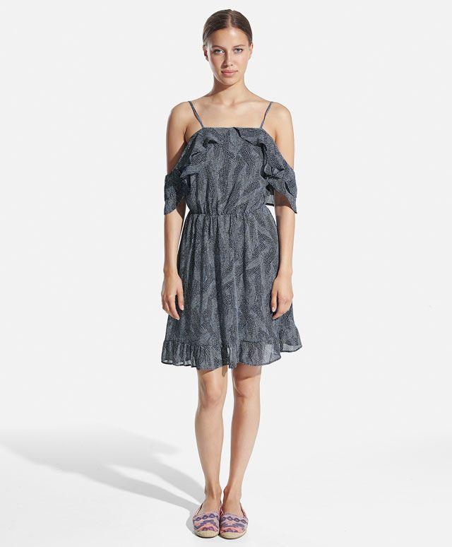 Платье в горошек с воланами - OYSHO