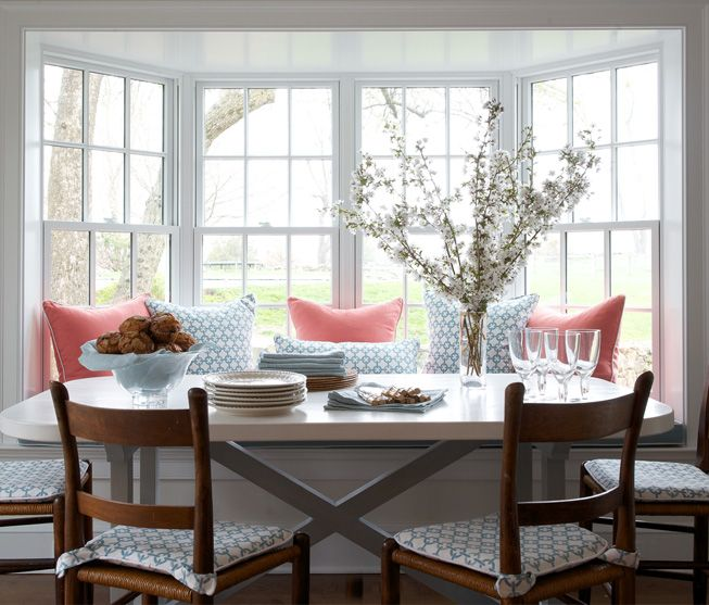 I like the window seat (not necess. table & chair choice, but feel) Kerry Hanson Design Portfolio
