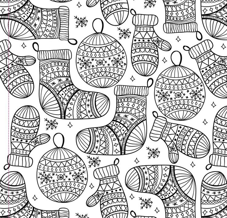christmas design coloring pages - Selo.l-ink.co