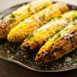 Parmesan Garlic Grilled Corn #foodgawker