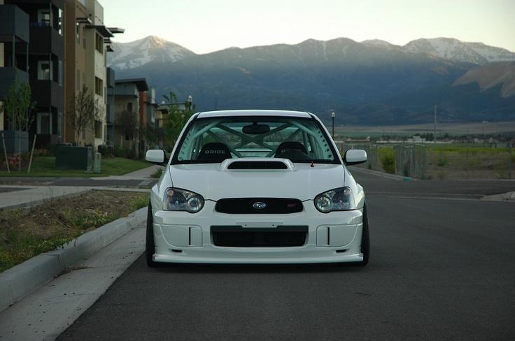 White 2005 Subaru WRX STi