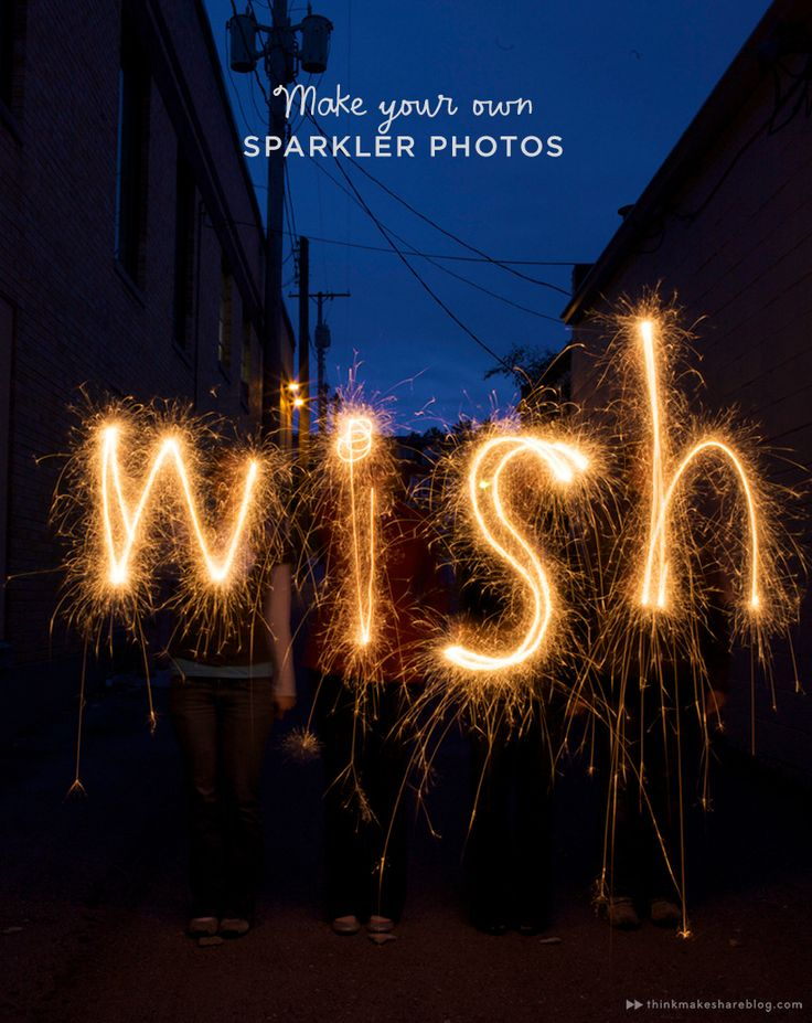 Think.Make.Share teaches us how to create memorable Fourth of July photos as we write with sparklers. (A blog from the Creative Studios at Hallmark.)