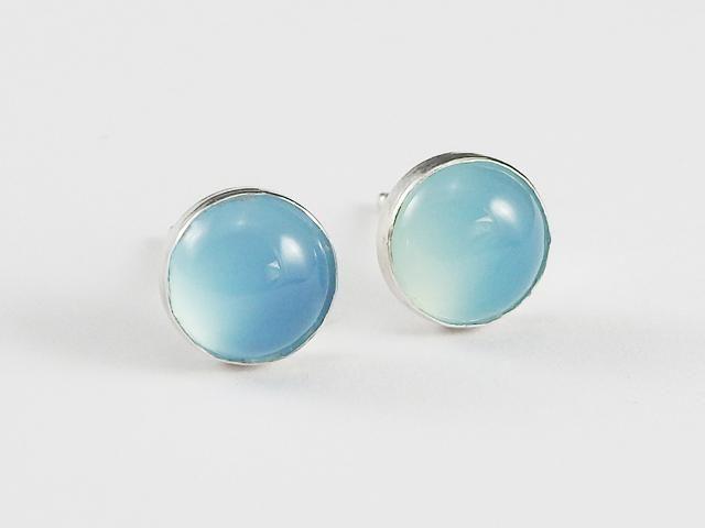 Everyday earrings, stud earrings, Kalsedon studs