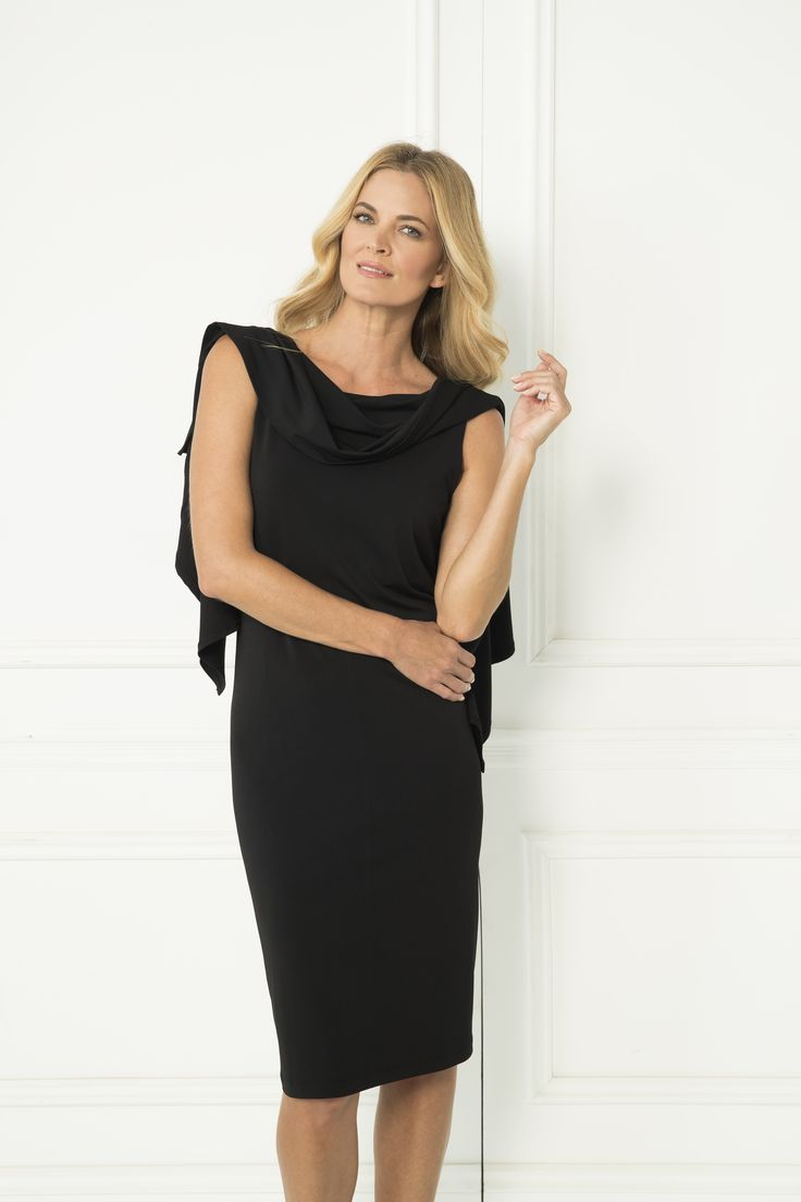 The Jenny Dress is three dresses in one! Wear as a cowl neck, over one shoulder or batwing style! Pair with your favourite heels and you're ready to rock any occasion in style.  3 ways to wear After Dark Polyester/Spandex