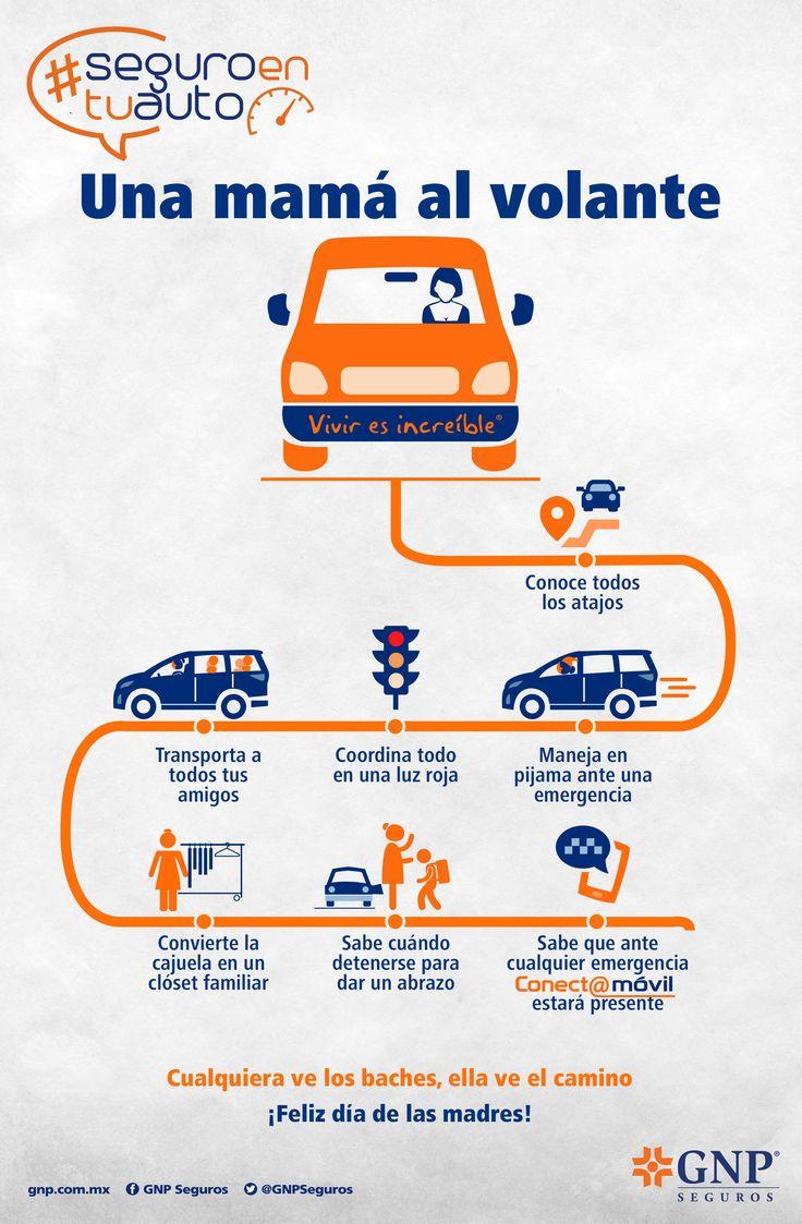 Infografía realizada para GNP Seguros:  Una Mamá al Volante