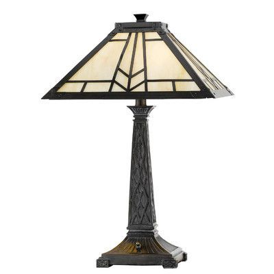 "Cal Lighting Mission 23"" H Table Lamp with Empire Shade"