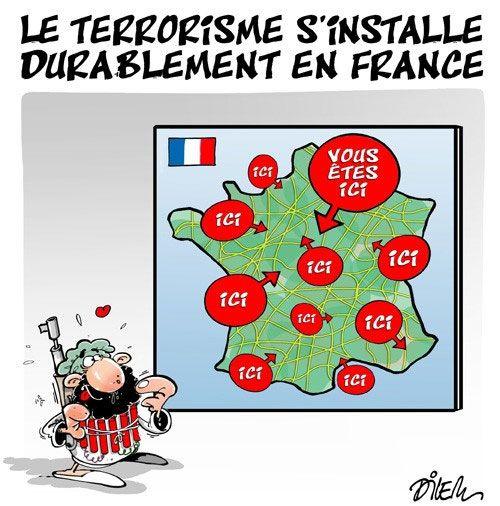 Dilem (2016-07-27) Le terrorisme s'installe durablement en France
