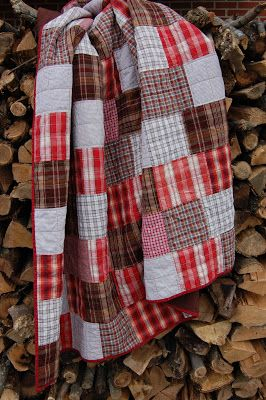 "Farm Gal Designs:  ""Big Boy"" Quilt..I have a quilt made by my grandmother made from scraps left from clothes she made and I can still pick out the blocks that came from my dresses..I love that quilt (she had a treadle machine)"