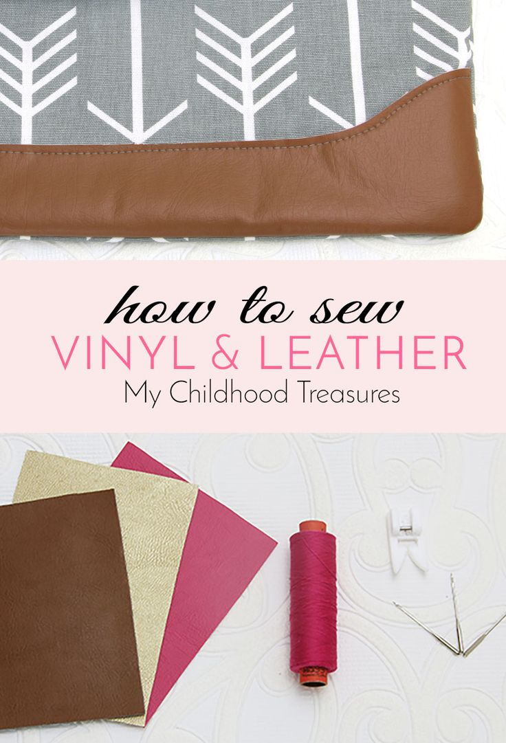 Sewing Leather and Sewing VInyl is easy with the right tools and these easy tips