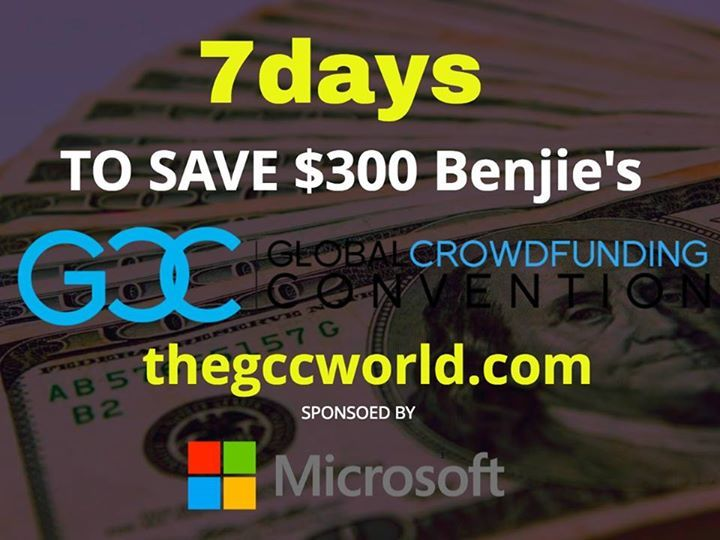 The appeal of #crowdfunding is not only to raise capital but simultaneously build a network of brand advocates who turn into long term customers. Learn how at the 6th Global Crowdfunding Convention http://thegccworld.com Register today and save on our #Memorial day sale. Remember to register for our next Handheld Stabilizer Giveaway (Worth $179)!  Step 1. Like, Comment, & Share  Step 2. Register at https://angelfund.space/giveaway    #crowdfunding #angelfund #demandangelfund #crowdfund…