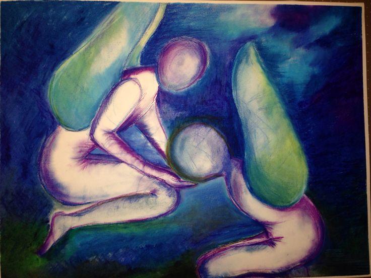 Geïnspireerd op Chagall.